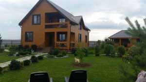 брусовой дом с вент фасадом