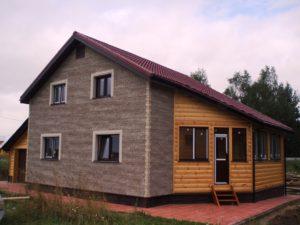 фото брусовой дом с террасой