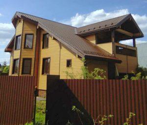 брусовой дом с гаражом